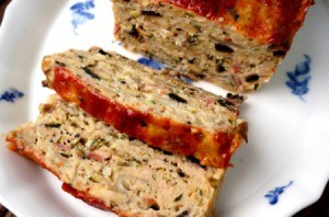 A delicious turkey meatloaf.