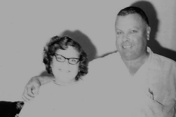 A black and white photo of a couple.