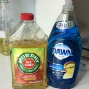Dawn and Murphy's Oil Soap bottles