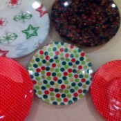 5 finished decorative Christmas  Plates