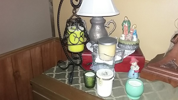 Candle Safety - several candles on top of a dresser