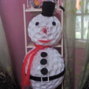 finished snowman