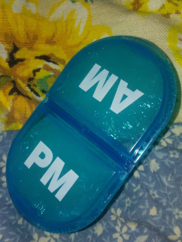 A pill keeper full of Vaseline