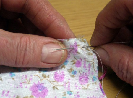 Fabric and Button Tic-Tac-Toe Game - hand or machine stitch around 3 sides