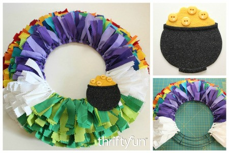 St. Patrick's Day Fabric Scrap Wreath