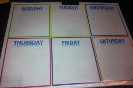 Erasing Permanent Marker from Laminated Paper - clean calendar