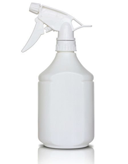 Spray bottle of homemade wrinkle reducer.