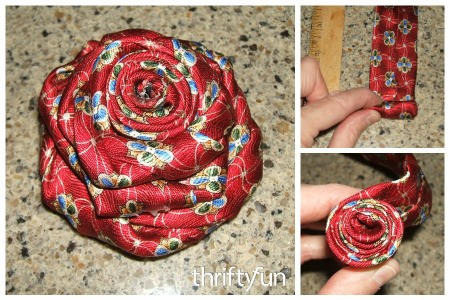 Men's Silk Tie Rose Pin
