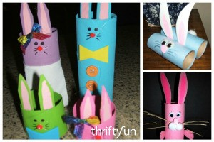 Recycled Cardboard Tube Bunnies