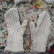 Cozy Mittens from Sweater - finished mittens