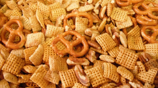 Gluten Free Chex Party Mix closeup