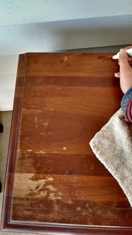 How to Fix Damaged Surfaces of Wood Furniture - marking pen use in other areas