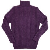 purple wool sweater