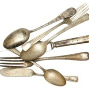tarnished silverware