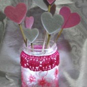 Floating Hearts Valentine's Jar Light