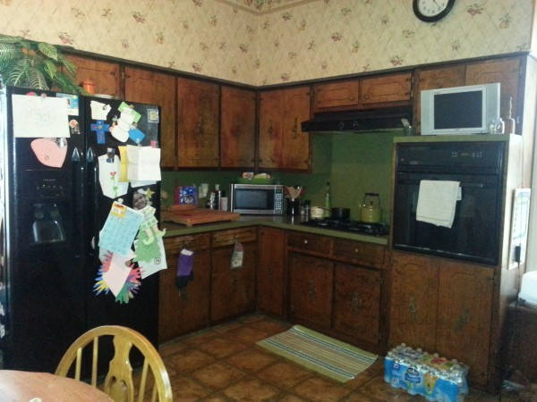 Kitchen cabinet paint color advice thriftyfun for Avocado kitchen cabinets
