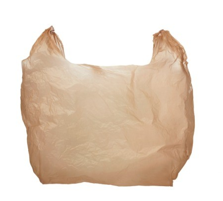 A brown plastic grocery bag.
