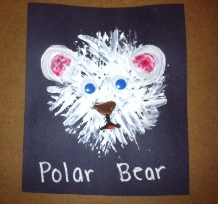 Fork Bears - use a brush to add pink to ears and paint on eyes, nose, and mouth then glue on eyes