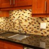 Shiny kitchen countertops.