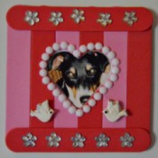Pure Love Valentine's Day Magnetic Frame - finished magnet with pet photo