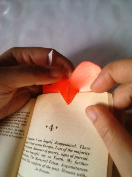 Valentine Bookmark - page marked