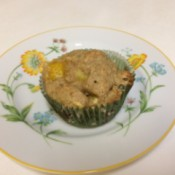 Orange muffin on plate