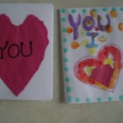 Easy Kids' Valentine Cards - both finished cards