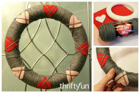 Making an Argyle Heart Wreath