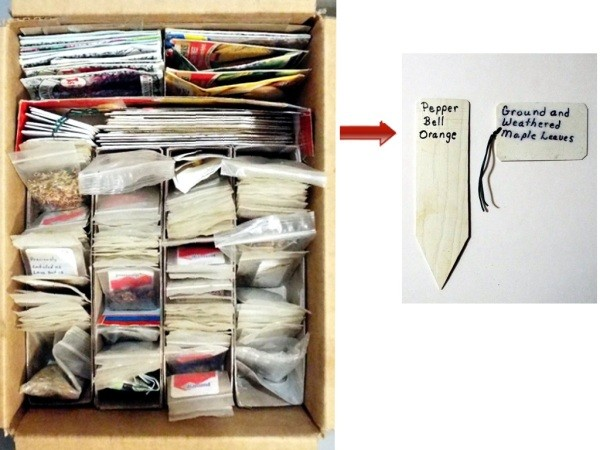 Organizing Seeds - section for markers and tags