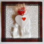 You Make My Heart Pop Valentine Card - add hair, eyes, and mouth plus make a frame from decorative lace tape, trim protruding edges
