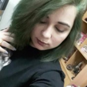 Adding Blue Hair to Previously Dyed Hair - girl with green hair