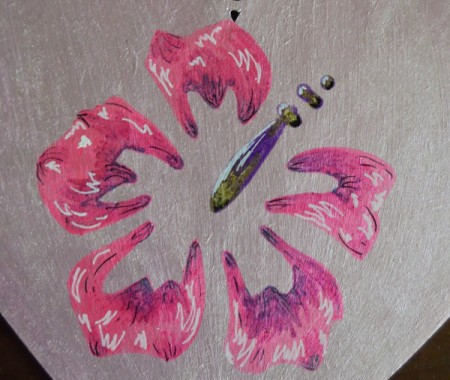 Hibiscus Love Mural Decoration - with your other pens add detail to flower