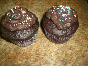 posted cupcakes with sprinkles