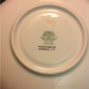 Value of Bone China - bottom of plate with info