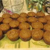 cooked muffins on tray