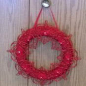 Romantic Wreath - wreath hanging on closet knob