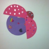 Love Bugs Kids' Craft - finished open wing love bug