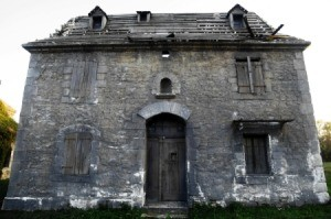 A creepy old abandoned house.