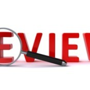The word review in large red letters.