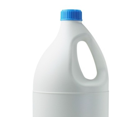 A bottle of bleach.