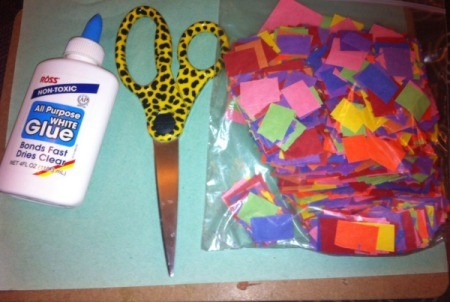 Paper Rainbow Mosaic - supplies