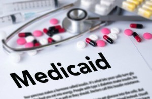 Photo of a document that says Medicaid on it.