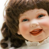 happy looking doll