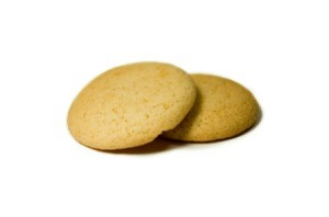 Two vanilla wafer cookies