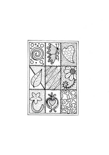 Colorful Birthday Card Coloring Page