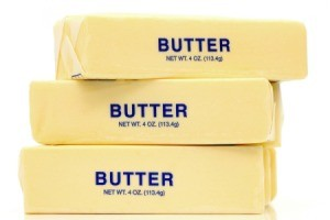 Stack of butter sticks.