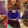 8 different crochet scarf patterns.