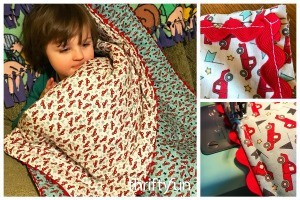 How to Make a Whole Cloth Tied Quilt with Ric Rac Trim