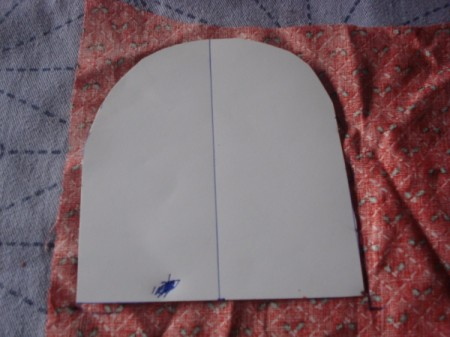 Pot Holders from Shoulder Pads - cut paper pattern in half and make two half sized versions of completed one