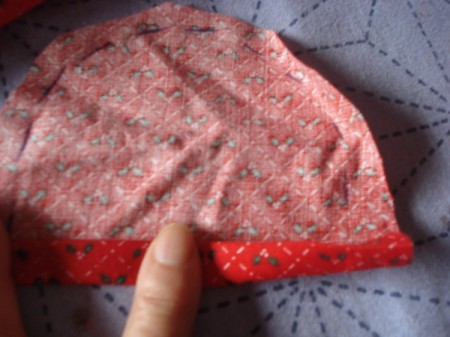 Pot Holders from Shoulder Pads - fold up a second time